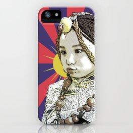 A little Tibetan girl iPhone Case