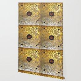Golden Swirls Book Wallpaper