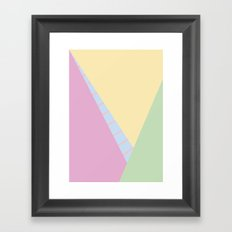 Pastel Abstract Framed Art Print