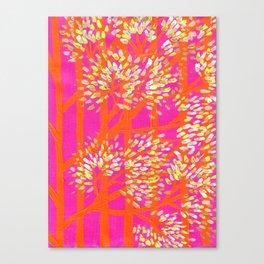 Blush Orange Trees Canvas Print