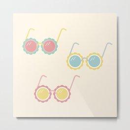 Pastel Sunglasses Print Metal Print