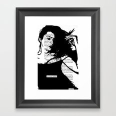 Her Heart Quaked Framed Art Print