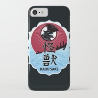 kaiju iPhone & iPod Cases featuring Kaiju Sake by zerobriant