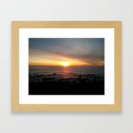 Ocean Sunset Framed Art Print