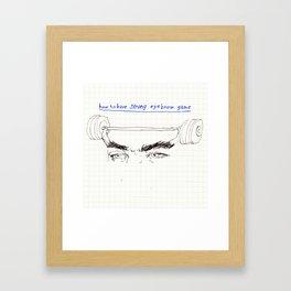 strong eyebrows Framed Art Print