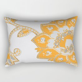 vintage paisley orange/grey Rectangular Pillow