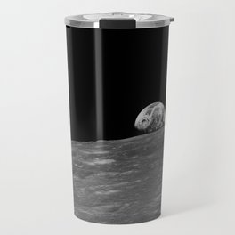 The first photograph Earthrise during Apollo 8. Travel Mug