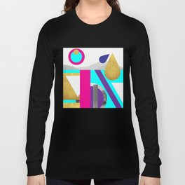 Abstractions No. 2: Mountains Long Sleeve T-shirt
