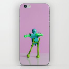 Happy Robot iPhone Skin