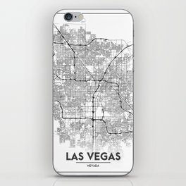 Minimal City Maps - Map Of Las Vegas, Nevada, United States iPhone Skin