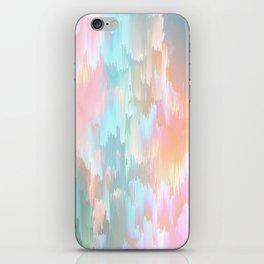 Candy Rainbow Glitch Fall #abstractart iPhone Skin