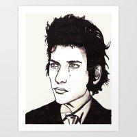 dylan Art Prints featuring Dylan by Matt Ferguson