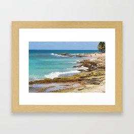 Condado Beach Framed Art Print