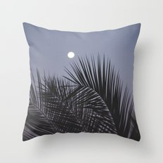 Moonrise over Los Angeles Throw Pillow