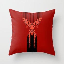 shibari bondage hanging girl Throw Pillow