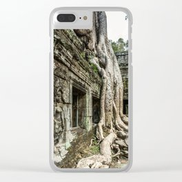 Ta Phrom, Angkor Archaeological Park, Siem Reap, Cambodia Clear iPhone Case