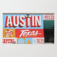 austin Area & Throw Rugs featuring Austin, TX by Black Oak ATX