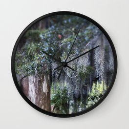 New Orleans Spanish Moss Wall Clock