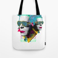 karl Tote Bags featuring karl by DIVIDUS