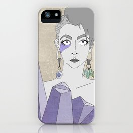 Crystals' Goddess iPhone Case