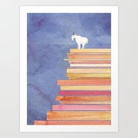 Goat on a Cliff Art Print