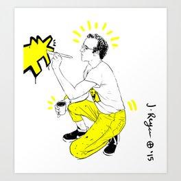 KEITH- Yellow  Art Print