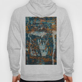 Abstract structure on old wall Hoody