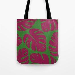 Monstera Leaf Print 4 Tote Bag