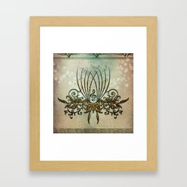 Clef with decorative floral elements Framed Art Print