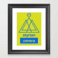 styrian cerera single hop Framed Art Print