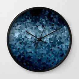 Blue Cristals Wall Clock