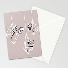 Zen Minimal Botanical Terrarium Stationery Cards
