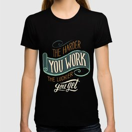 Best hard work design online T-shirt