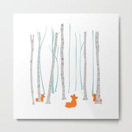 The three foxes Metal Print