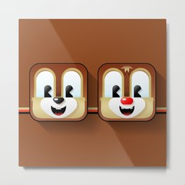 chip and dale Metal Print