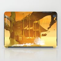pirate ship iPad Cases featuring Pirate ship  by nicky2342