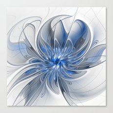 Abstract Art with Blue Canvas Print