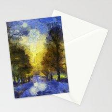 Greenwich Park London Van Gogh Stationery Cards