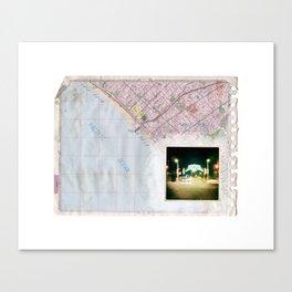 Thomas Guide Page 671, Santa Monica Pier Canvas Print