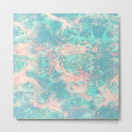 Ocean Foam Metal Print