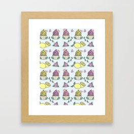 Time For Cupcakes! Framed Art Print