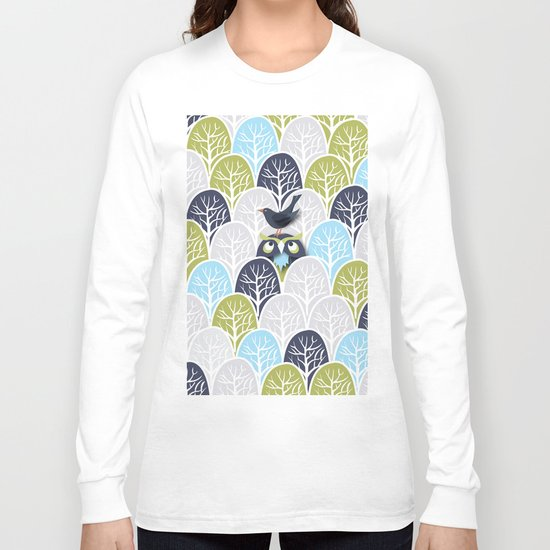 Forest Owl No. 2 Long Sleeve T-shirt