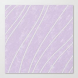 Purple Points in Oils Canvas Print
