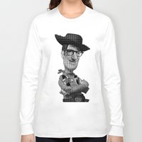 woody allen Long Sleeve T-shirts featuring Woody by Eric Siv
