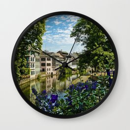 At the Canal de la Sarre Wall Clock