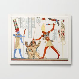 Grand Temple Great Hall. Painting on the east wall, between the door and the southeast corner from M Metal Print