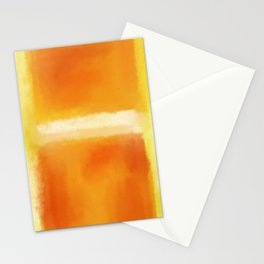 Mark Rothko Interpretation Orange On Orange Stationery Cards