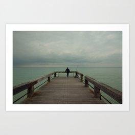 Lone Fisherman Art Print