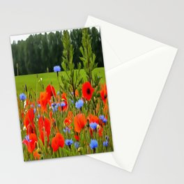 Poppies And Cornflowers Stationery Cards