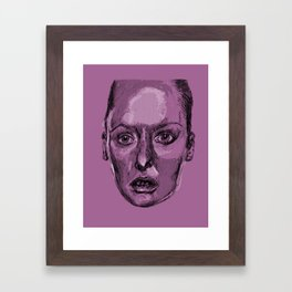 Girl Portrait Framed Art Print